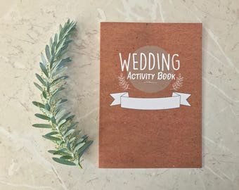 Children's Wedding Activity Book- Kid's fun wedding activity book for the children at your wedding