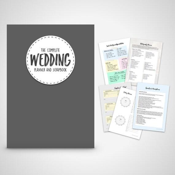 wedding planner book wedding organizer print at home digital etsy