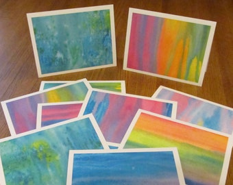 Watercolor Painting Note Cards