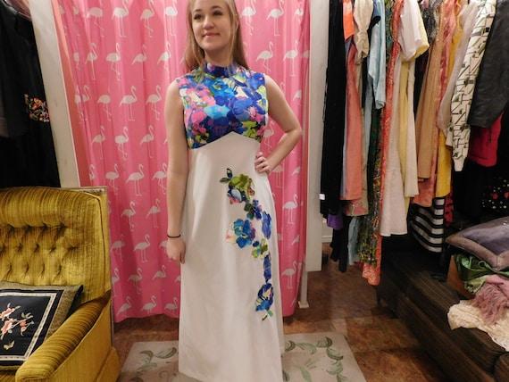41e7a24f351a 1960 Maxi dress   Floral dress  pin up   Etsy