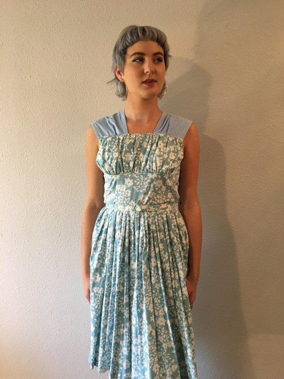 Vintage feed sack dress size small