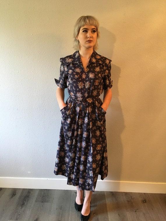 1940s vintage dress size large