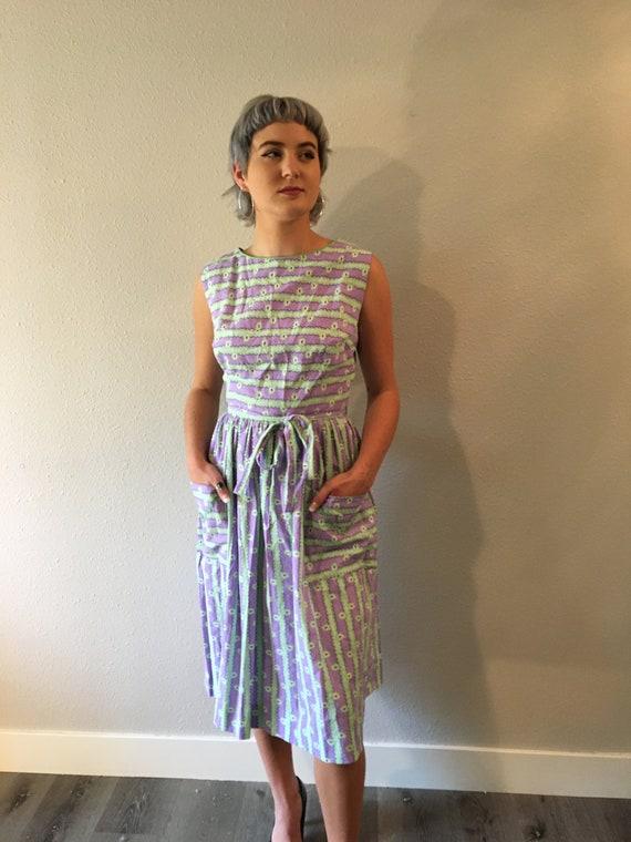 Vintage wrap dress / cotton