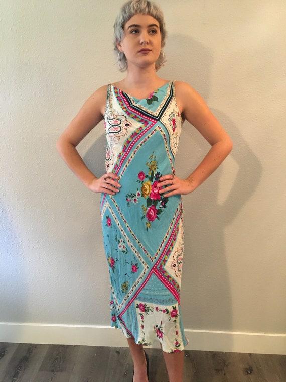 Vintage rayon dress size large