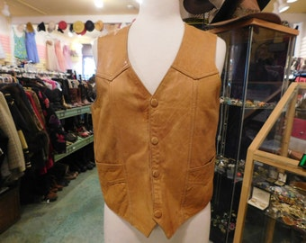 1960 leather vest  made in Mexico