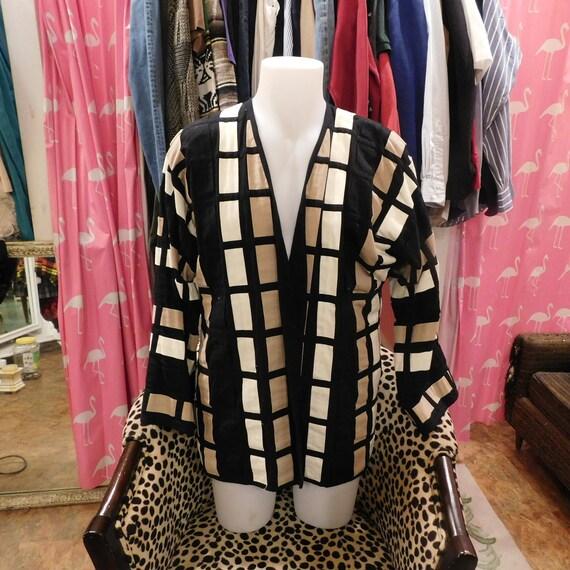 52bcd03b131f8 1990 Yak Magik  Art wear  Kimono style jacket.