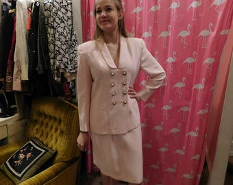 1980 Suits me size 12  light pink
