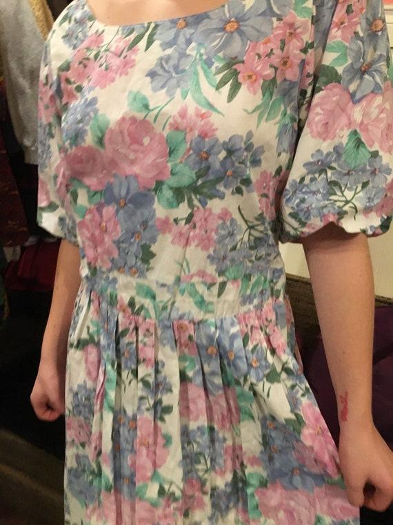 Vintage dress /floral floral dress /size large/co… - image 4