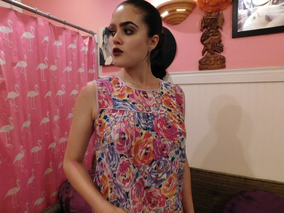 Cotton Farm Dress / Size Medium / Summer dress  1… - image 3