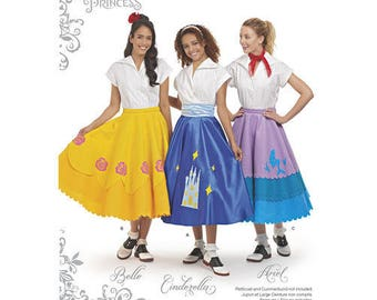 1950s Fabrics & Colors in Fashion Simplicity Pattern 8628 Misses Disney Character Skirts $5.95 AT vintagedancer.com