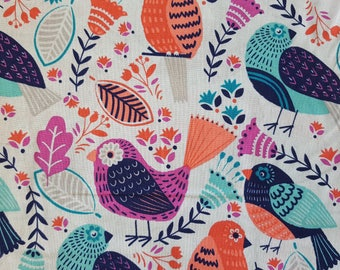 Novelty Birds Cotton Fabric (1 yard 19 inches)
