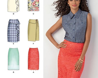 OUT of PRINT Simplicity Sewing Pattern 1465 Misses' Slim Skirt in Two Lengths
