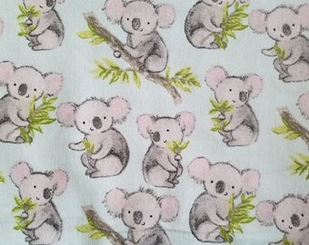 Sweet Koala Flannel Fabric (1 yard 24 inches)