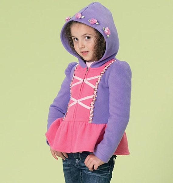 McCalls Pattern M7239 Boys//Girls Zipper Front Jackets w//Hood /& Peplum Options