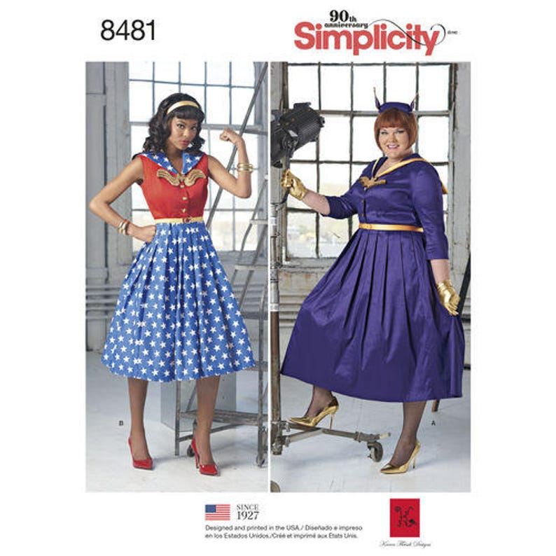 1950s Sewing Patterns | Dresses, Skirts, Tops, Mens Simplicity Sewing Pattern 8481 Misses and Womens Rockabilly Dresses $5.95 AT vintagedancer.com