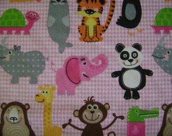 Animal Flannel Fabric (1 yard 9 inches)