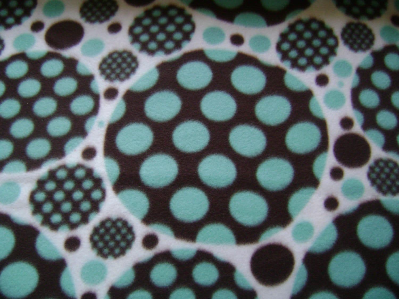 schokolade punkte auf punkte fleece stoff verkauft meterware etsy. Black Bedroom Furniture Sets. Home Design Ideas