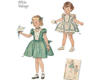 Simplicity Pattern 8617 Toddlers' Vintage Dress and Panties