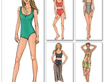 Butterick Pattern B4526 Misses' Swimsuit and Wrap