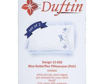 Butterflies Cross Stitch Pillowcase Kit