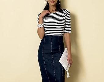 Butterick Pattern M6326 Misses' Raised-Waist or Elastic-Waist Skirts