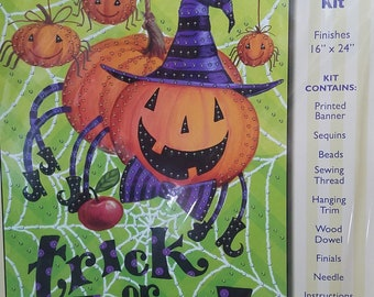 Trick or Treat Jeweled Banner Kit
