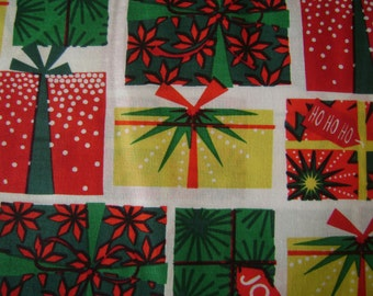 Traditional Christmas Presents Cotton Fabric by the yard