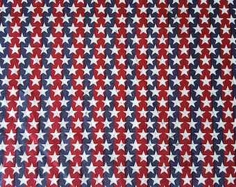Stars on Stripes Cotton Fabric (1 yard 33 inches)