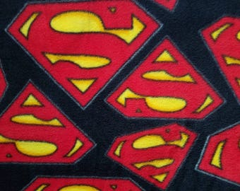 Superman Fleece Fabric (1 yard 12 inches)
