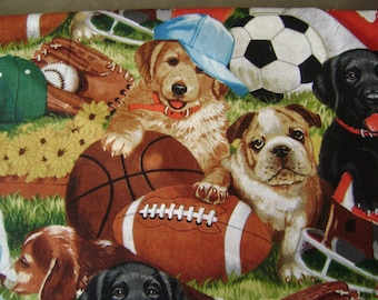 Let's Play Ball Cotton Fabric Sold by the Yard