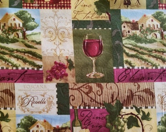 Vino Italiano Cotton Fabric (1 yard 33 inches)