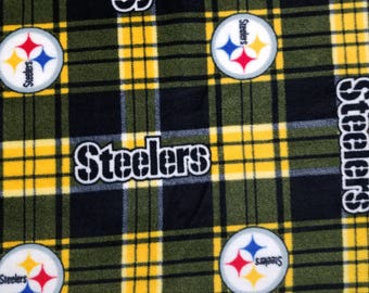 Steelers Plaid Fleece Fabric (1 yard 13 inches)