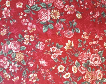 Burgandy Country Cotton Fabric (1 yard 24 inches)