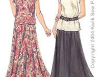 Kwik Sew Pattern K3233 Misses Tops & Skirt