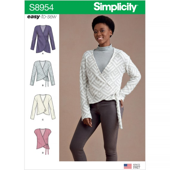Simplicity 8791 Misses/' Wrap Tops Sewing Pattern