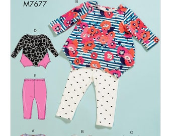 McCall's Pattern M7677 Infants' Contrast Tops and Leggings
