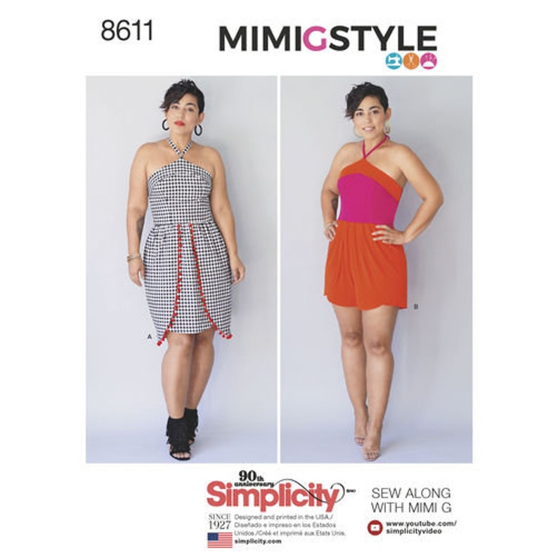 a1fe9f703ba Simplicity Pattern 8611 Misses  and Petites  Dress and