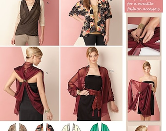 OUT of PRINT Simplicity Pattern 1588 Misses Jacket, Wrap, Belt and Scarf
