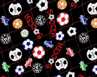 Soccer Ball Cotton Fabric (1.5 yards)