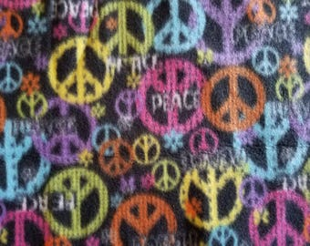 Peace Fleece Fabric (1 yard 13 inches)