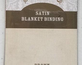 Satin Blanket Binding - Brown