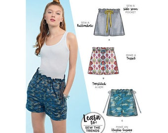 Simplicity Pattern 8651 Learn to Sew Pull-On Shorts