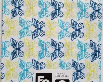 "Fabric Quarters Cotton Fabric 18""- Butterflies"