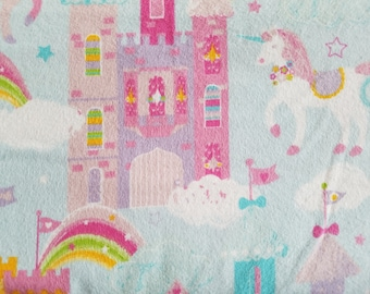 Magic Castles and Unicorns Flannel Fabric (1 yard 23 inches)