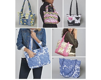 Simplicity Pattern 8310 Quilted Bags in Three Sizes