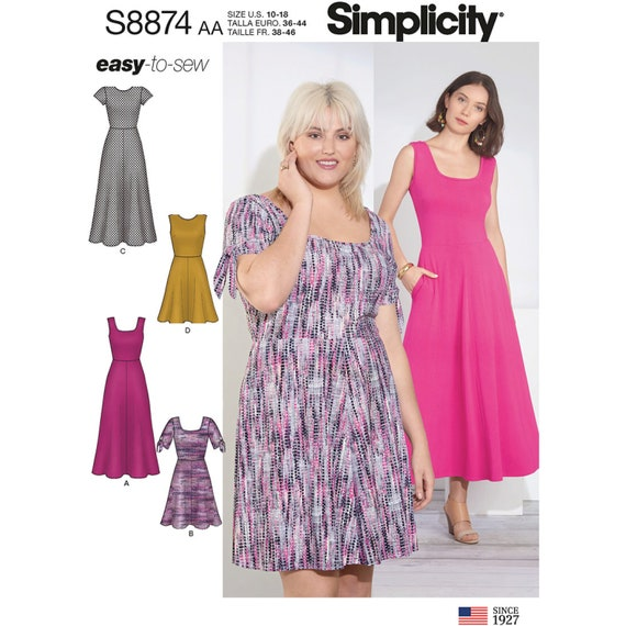 Simplicity Sewing Pattern S8874 Misses'/Women's