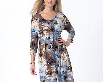 McCall's Pattern M7353 Misses' Raised Elastic-Waist Top and Dresses