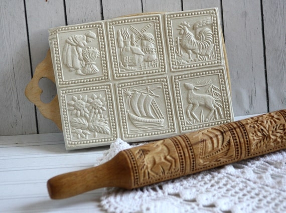 HongHong 12 Patterns Engraved Carved Rolling Pin Kitchen Tool,Multi Embossing Patterned Roller for Fondant Cake Biscuit 2
