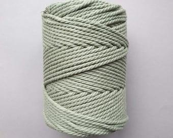 5 mm   3ply   Eucalyptus   Macrame Rope   Macrame cord tangling
