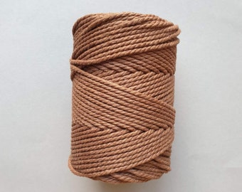 5 mm   3ply   Chocolate brown   Macrame Rope   Macrame cord tangling
